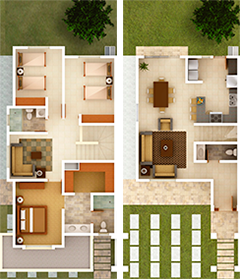 Real de sevilla dream house plans floor storey duplex also plan pinterest rh