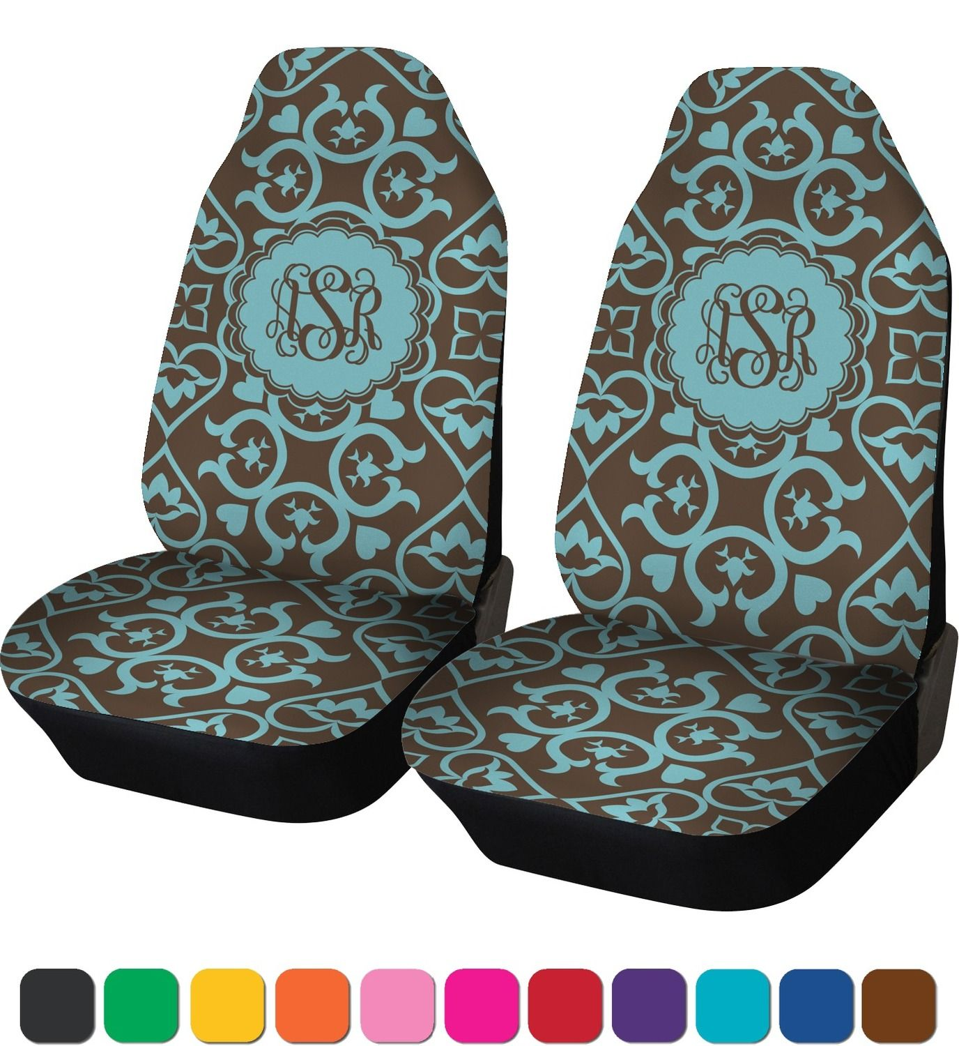 Floral Car Seat Covers (Set of Two) (Personalized) Car