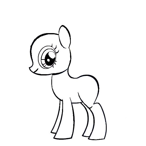 Mlp Template | My Little Pony G4 Template By Bobcatgirl03 On Deviantart Eden
