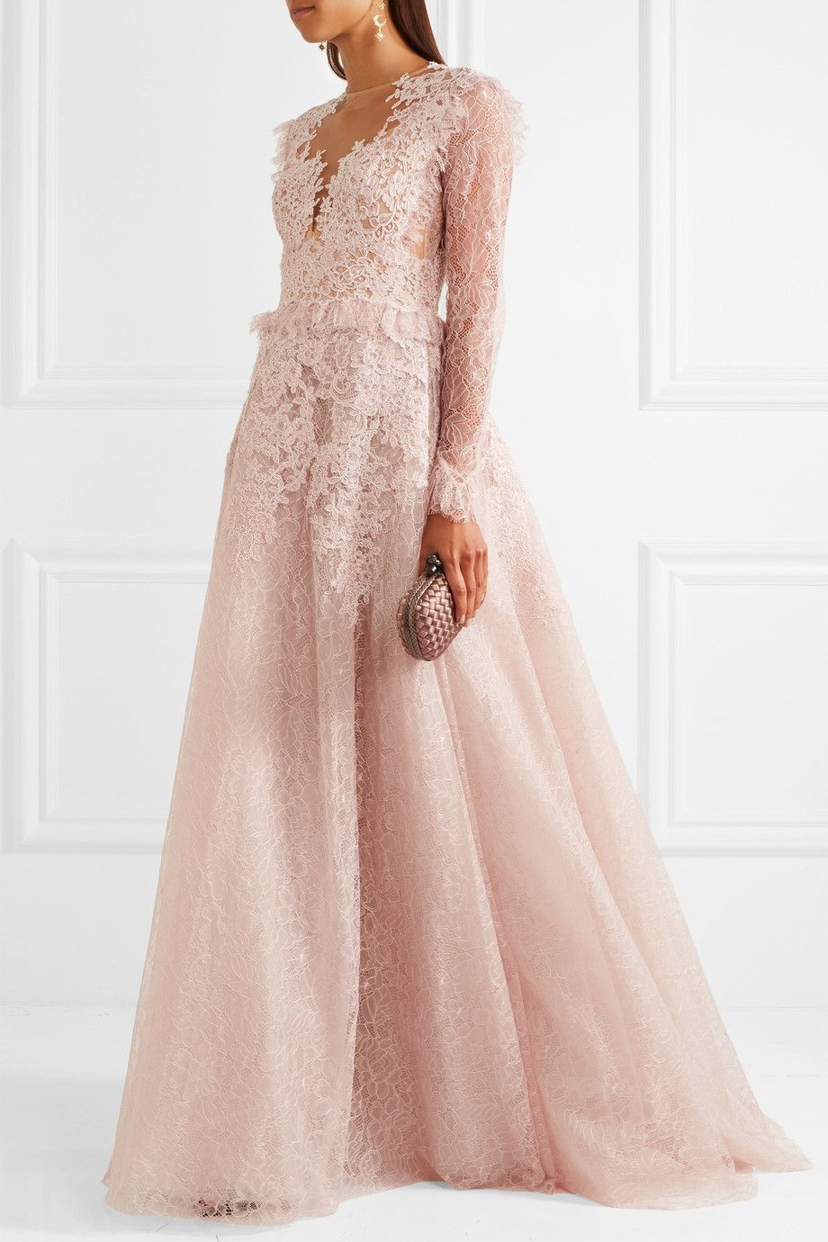 Zuhair Murad | Ruffled lace and tulle gown | NET-A-PORTER.COM ...