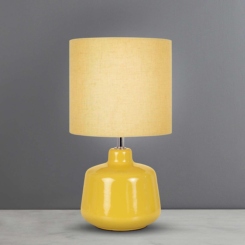 Oslo Small Ochre Ceramic Table Lamp Dunelm Table Lamp Lamp Ceramic Table Lamps