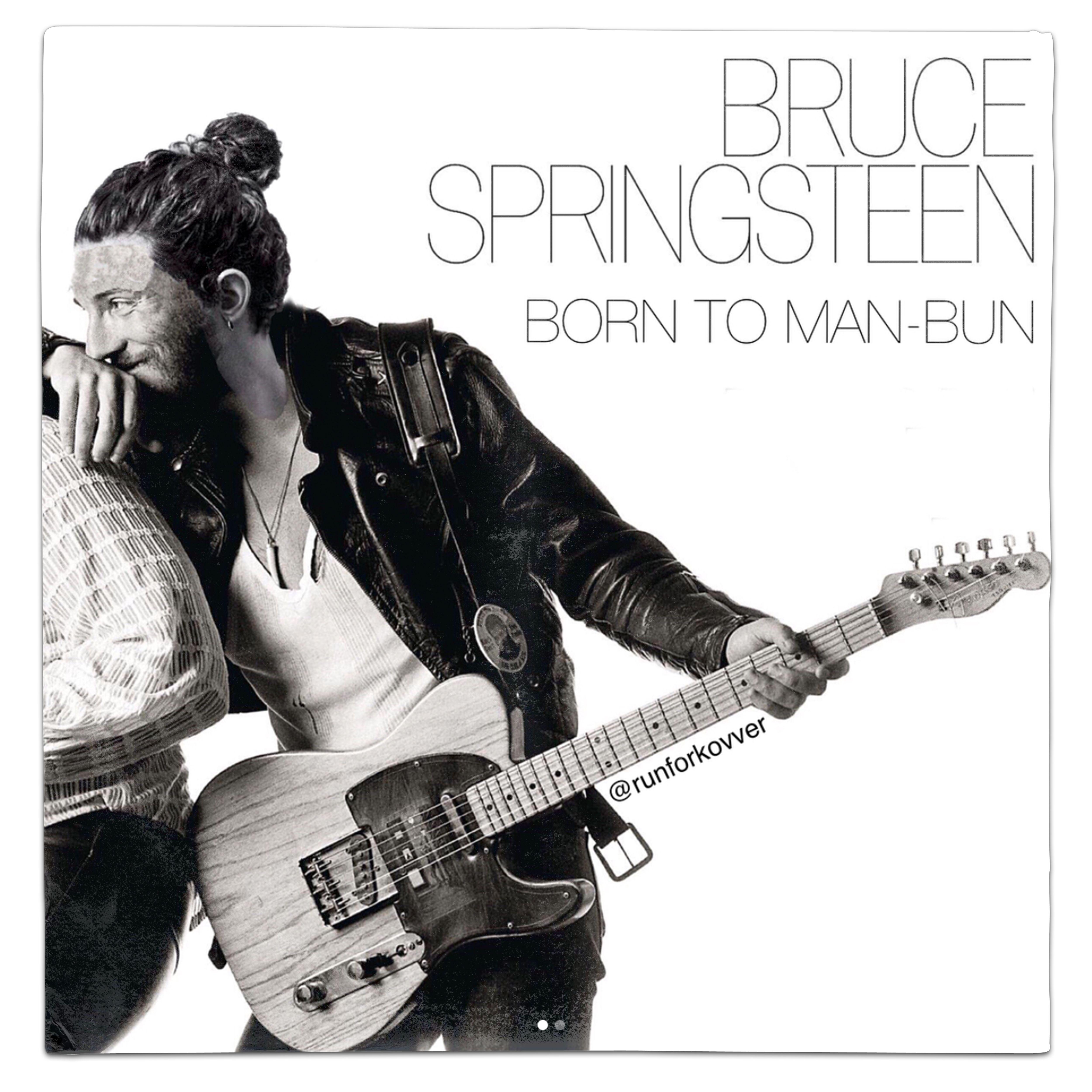 Bruce Springsteen Born To Run Man Bun Vinyl Mash Up Parody By Everbest Bjorka Handbag Hitam Runforkovver Mashup