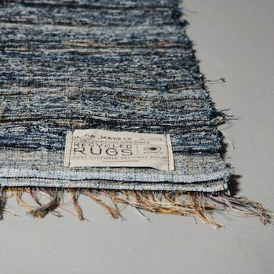 Nudie Jeans Rugs  The second rug to make our list rocks a very different look from the first. Nudie Jeans collects destroyed denim to weave into one-of-a-kind indigo rugs. Paired with Aelfie's rugs, you might find your home's floors dressed in last year's wardrobe!