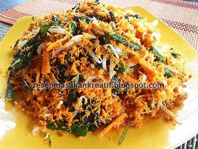 Resep Urap Sayuran Bumbu Kelapa Sangrai Kering Resep Masakan Resep Masakan Indonesia Masakan