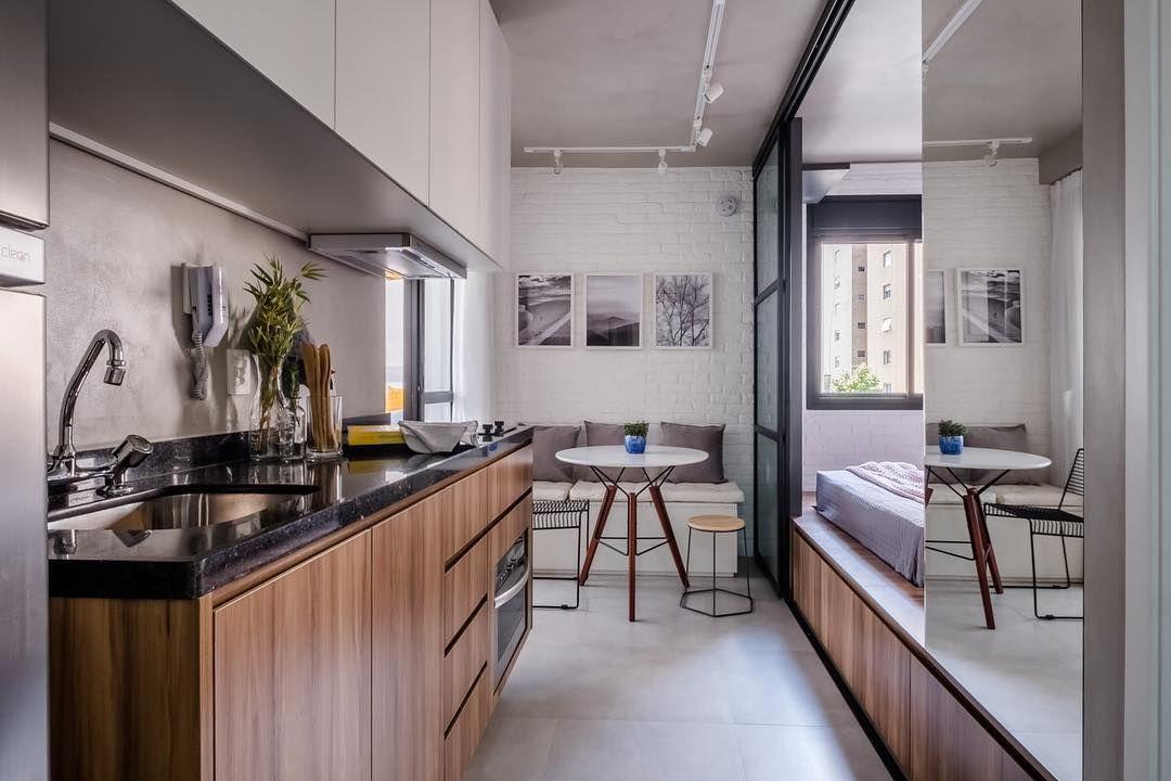 A Imagem Pode Conter Cozinha E Area Interna Granito Marrom