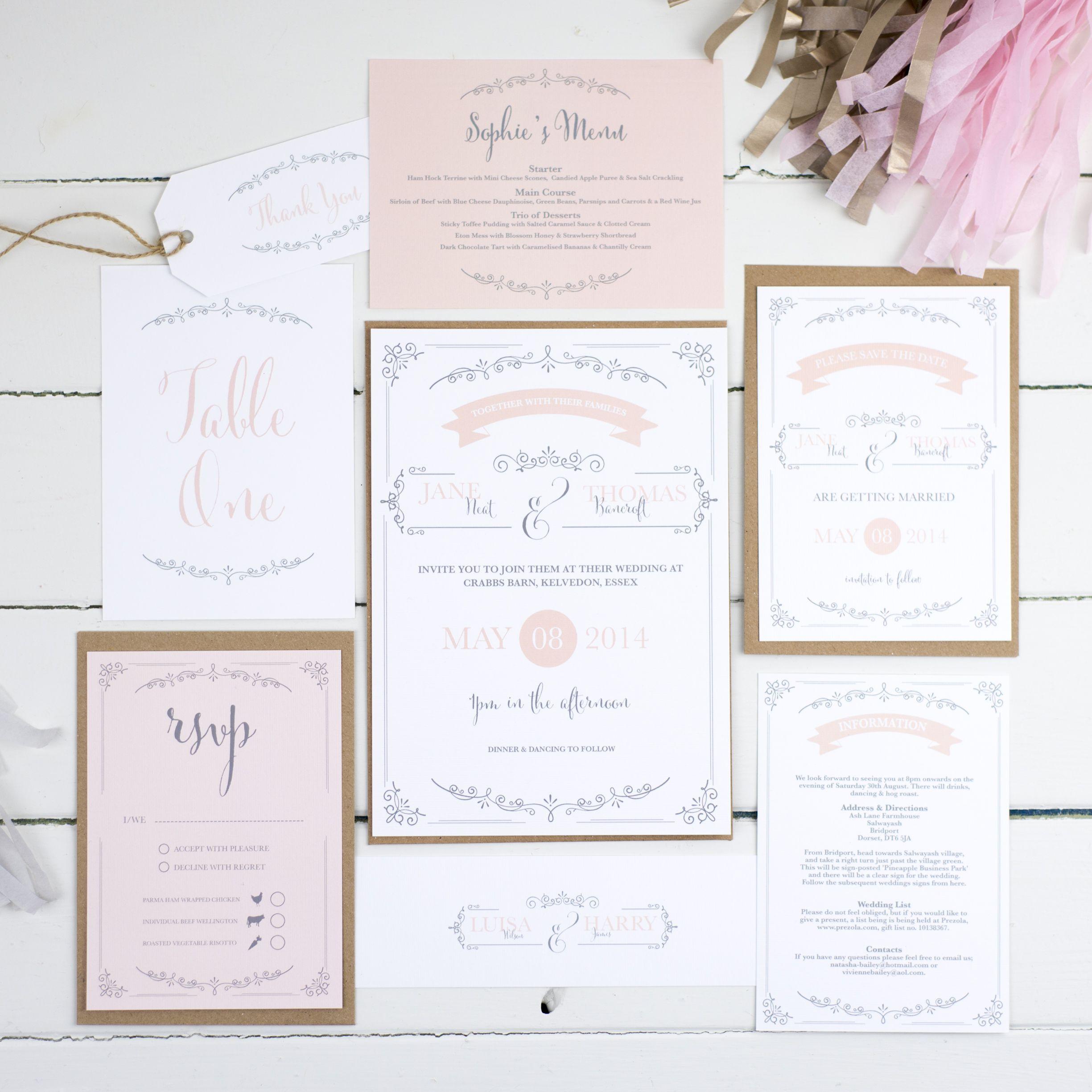 Vintage Flourish Wedding Invitation Suite by Russet & Gray I ...