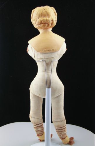 RARE Antique Papier Mache Blonde Molded Hair Ludwig Greiner Doll from 1872 TLC | eBay