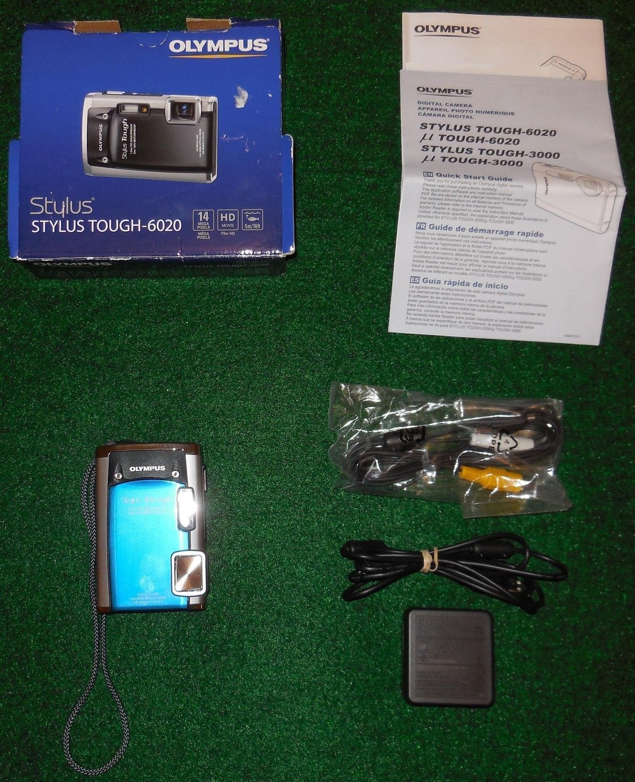 Olympus Digital Camera Blue Stylus Tough 6020 Never Used In Original Box Digital Camera Olympus Digital Camera Olympus