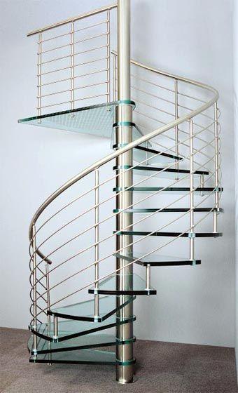 Escalera de caracol metalica con cristal escaleras pinterest staircases spiral staircases - Escaleras con cristal ...