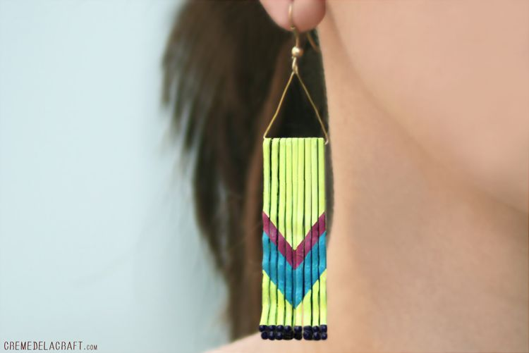 Chevron Earrings from Bobby Pins