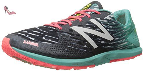 premium selection 843b9 dd051 New Balance Women s 900v3 Track Spike Running Shoe, Black Blue, 7 B US