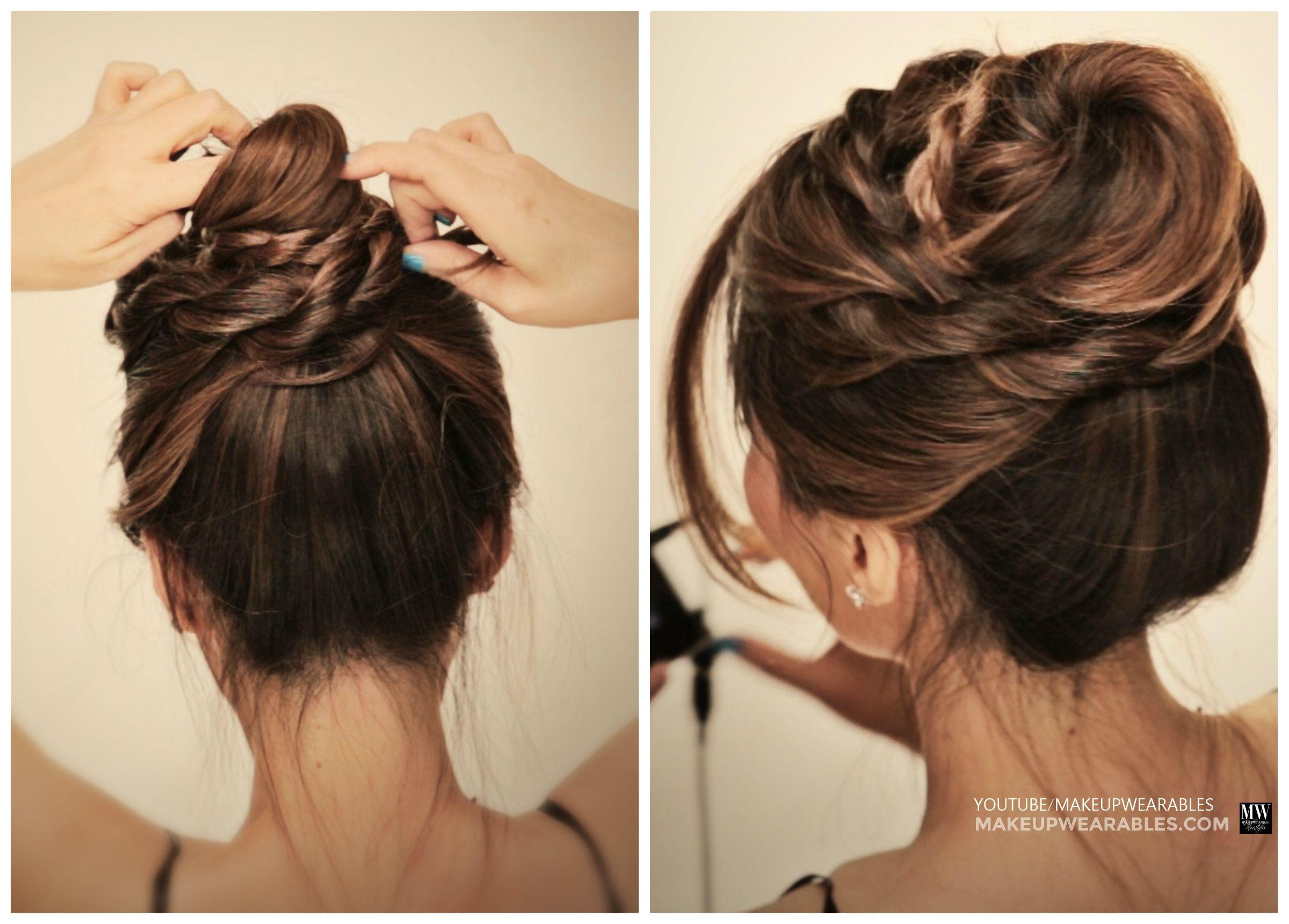 Messy Ballerina Twist Bun Hairstyle | Holiday Updo ...