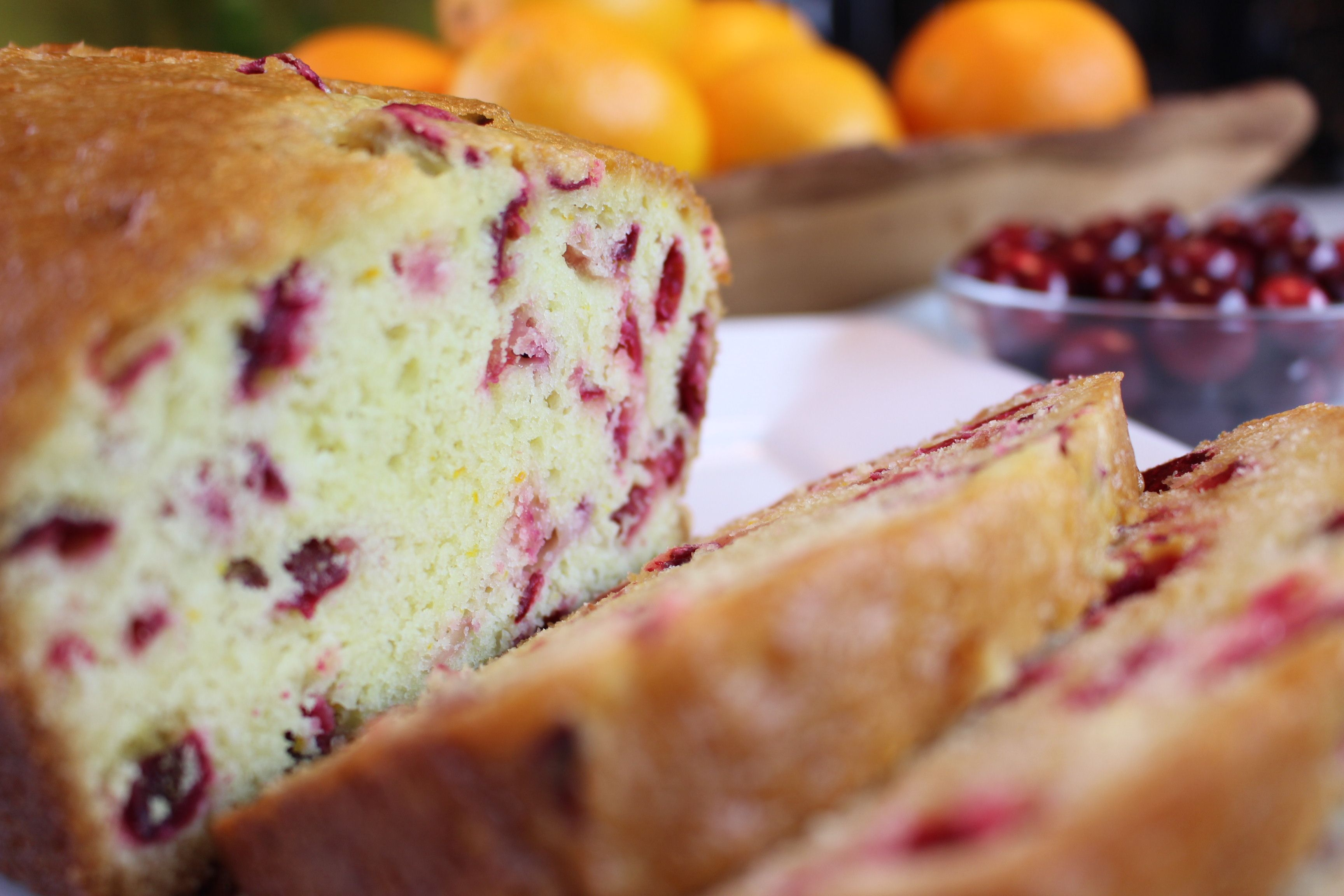 Cranberry bread is a and delicious addition to