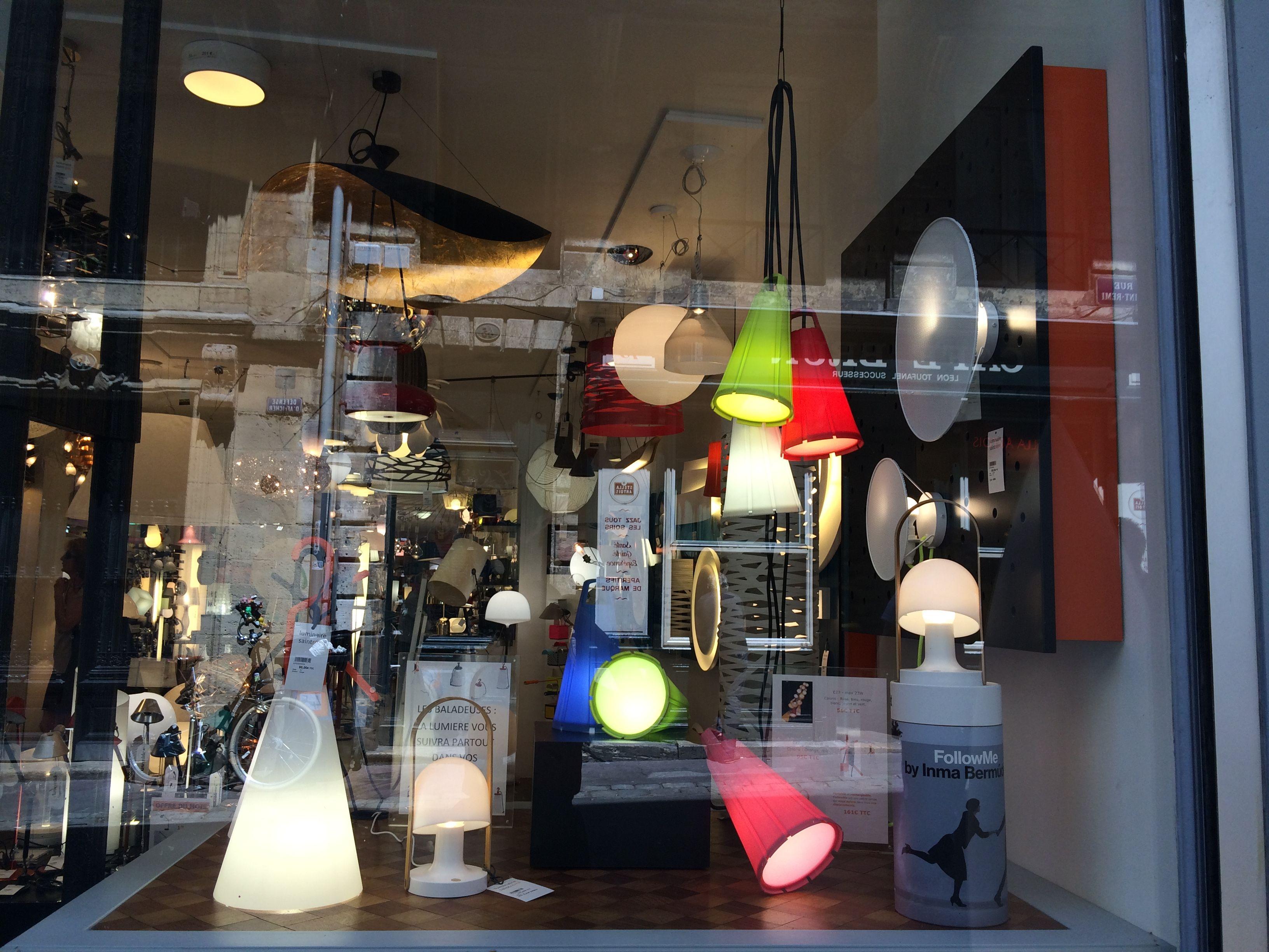 luminaire exterieur pour vitrine