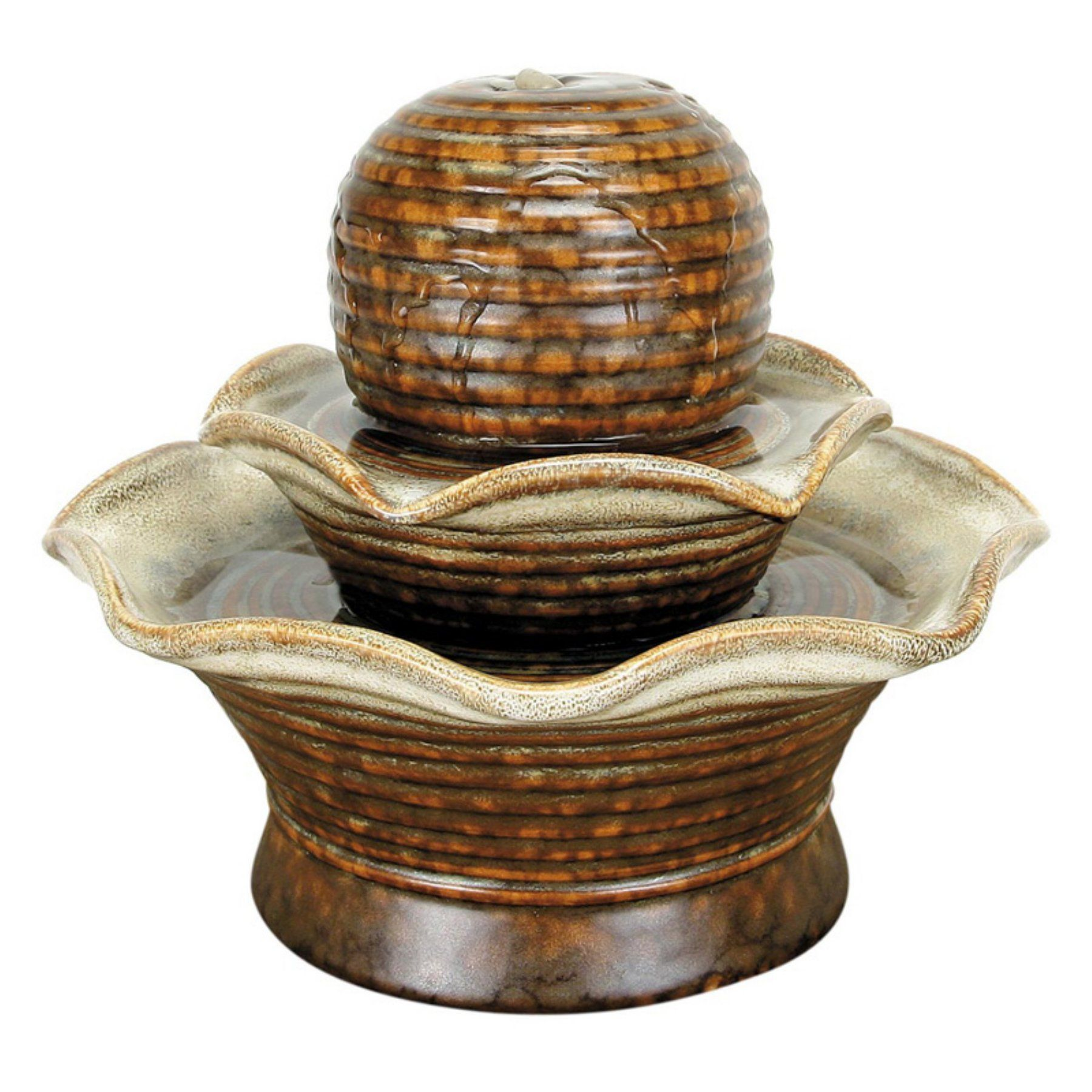Foreside Home and Garden Ball Tiered Tabletop Fountain - D9294 ...