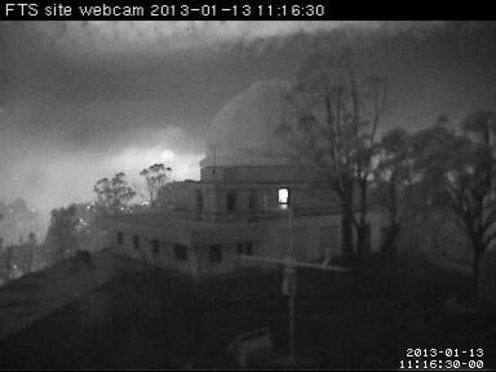This Is A Webcam Image Taken At Siding Springs Observatory