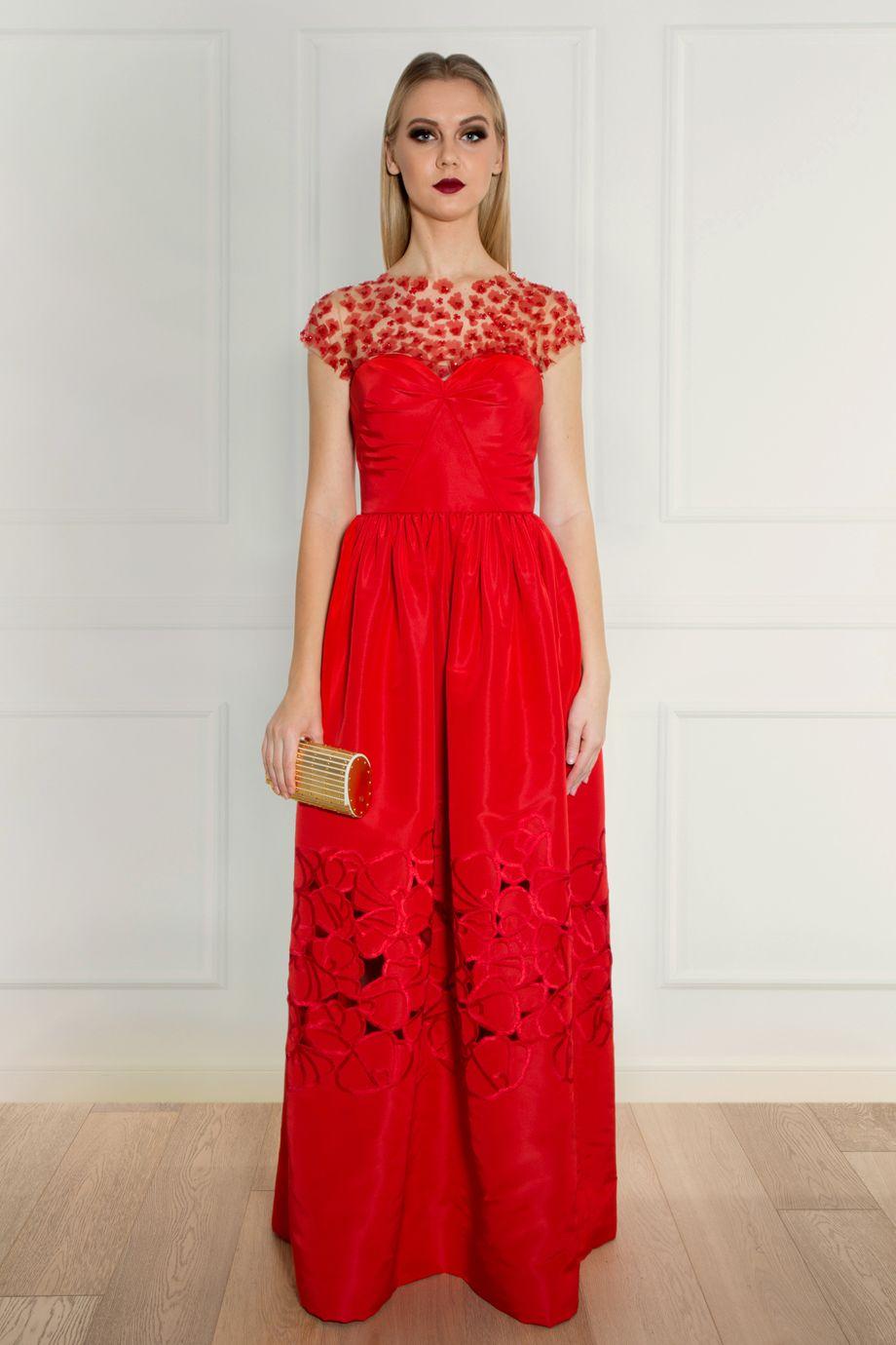 Oscar De Le Renta Floral Gown