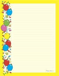 Birthday stationery paper