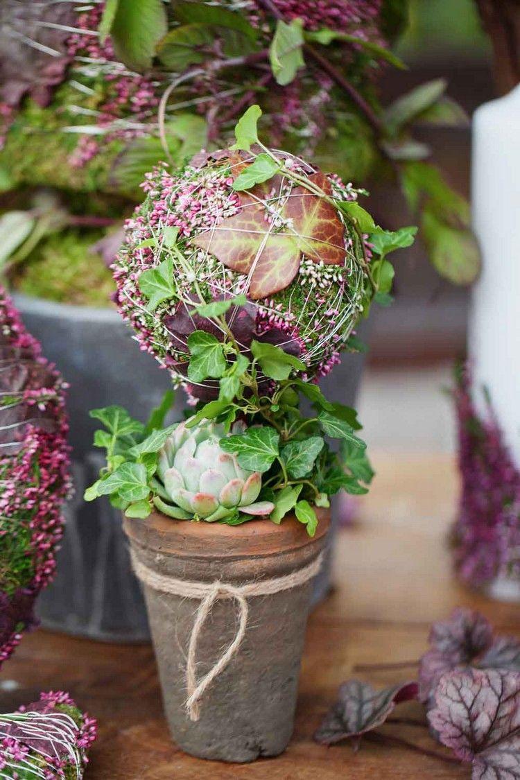 Dekorativer baum selber machen herbst herbst dekoration herbst und basteln herbst winter - Herbstdeko mit erika ...