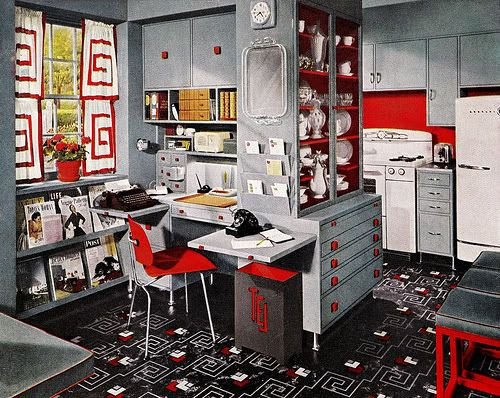 Chronically Vintage A Stellar 1950s Example Of Effectively Using Grey In Home Decor