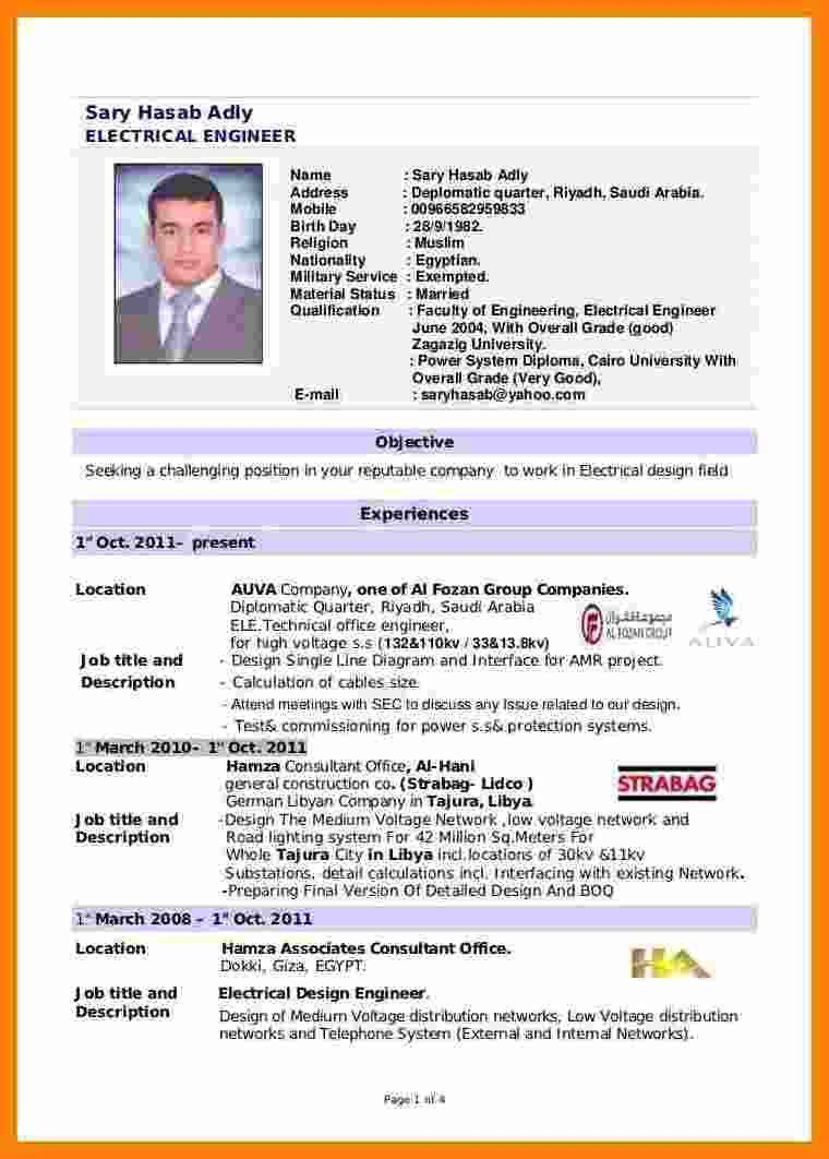 Resume Sample For Fresh Graduate Unusual 5 Cv Template For