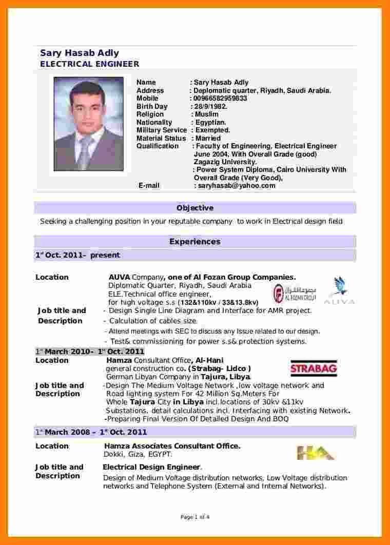 Resume Sample For Fresh Graduate Unusual 5 Cv Template For Fresh Engineering Graduates Of 40