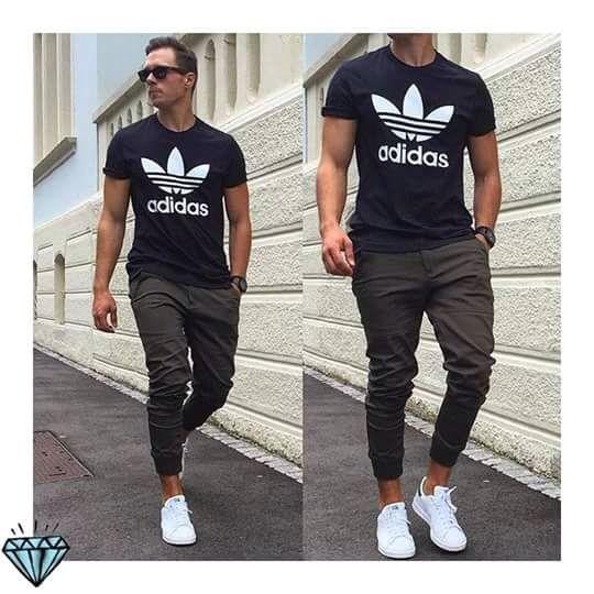 Moda Para Hombre Look Casual Con Tenis Blancos Estilo De Ropa Hombre Moda Ropa Hombre Moda Hombre