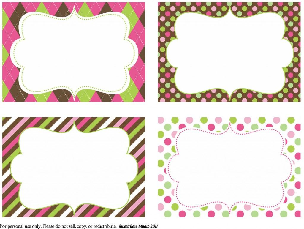 Birthday Gift Tags Templates