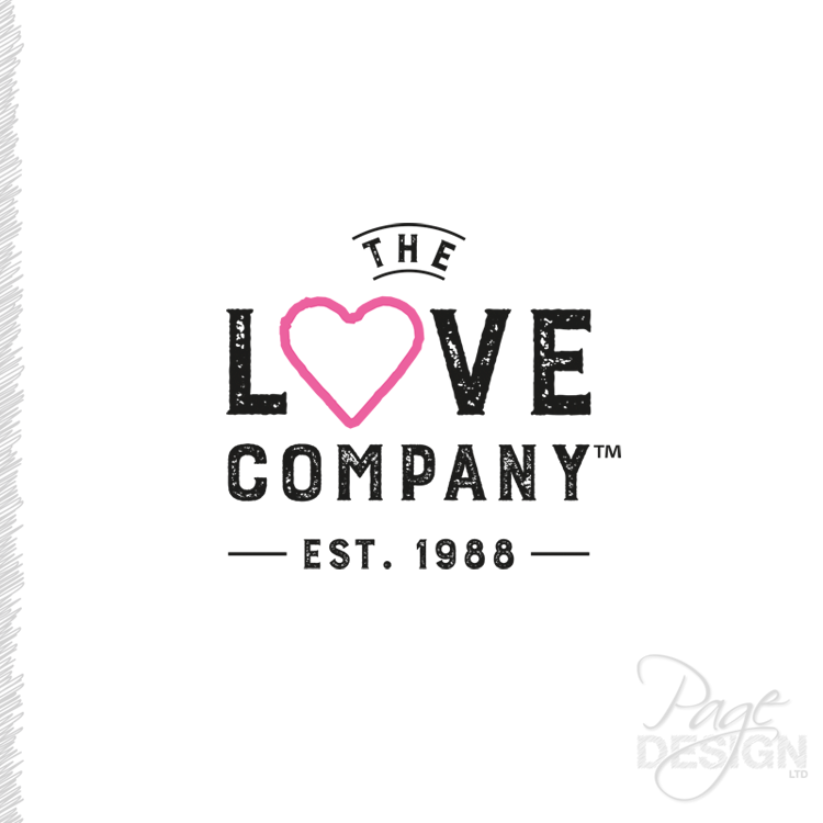 Logo design for The Love Company, NZ (TLC)
