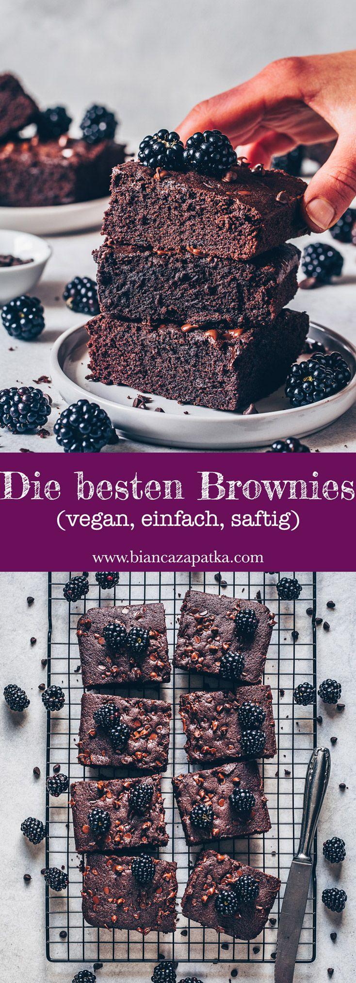 Die besten Brownies - vegan, einfach, saftig - Bianca Zapatka | Rezepte