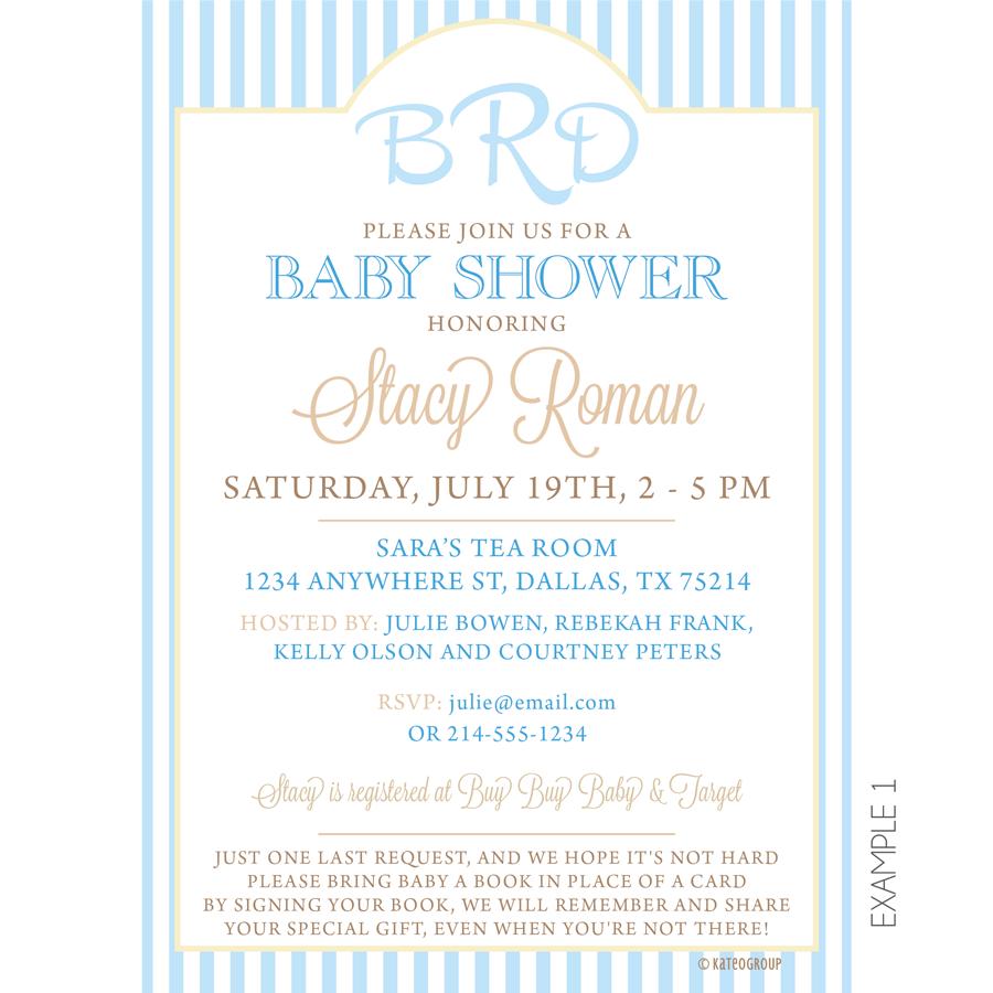 Monogram Baby Shower Invitation by KateOGroup #Monogram #BabyShower ...