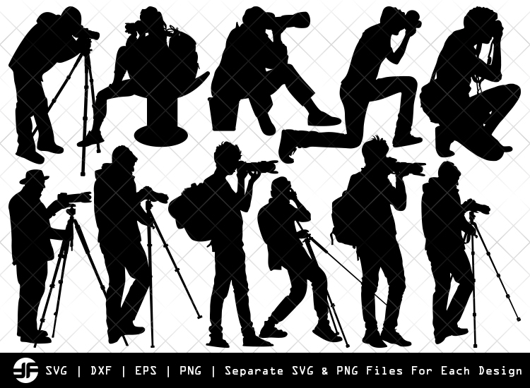 Photographer Svg In 2020 Vector Svg Silhouette Photographic Art