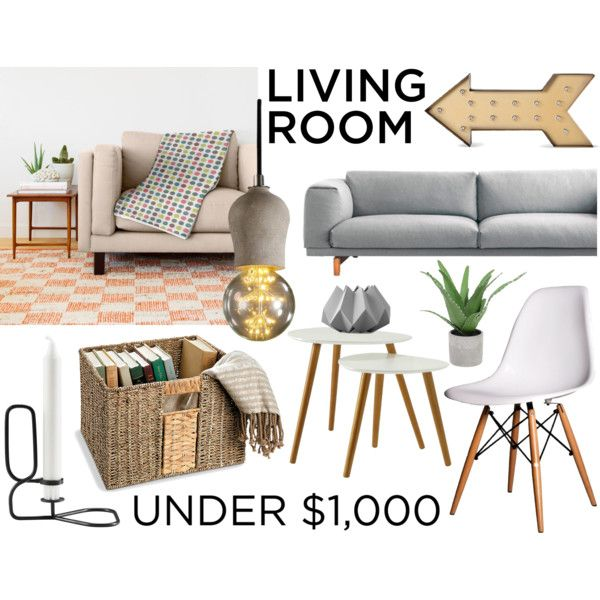 Under $1000 Living Room by by-jwp on Polyvore featuring interior