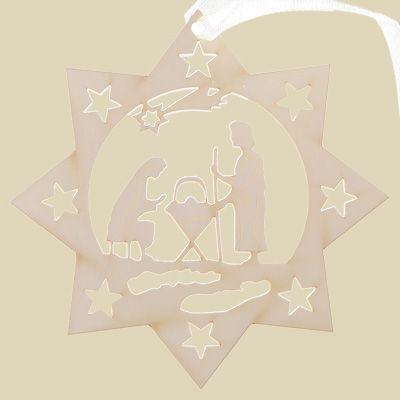 Traforo stella con presepe | Carta-amalfi: I trafori in carta by La Scuderia del Duca