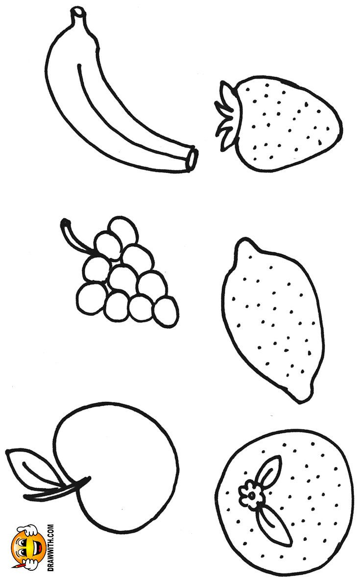 Free Fruit Coloring Pages For Kids Which Includes A Color Along Video Tutorial