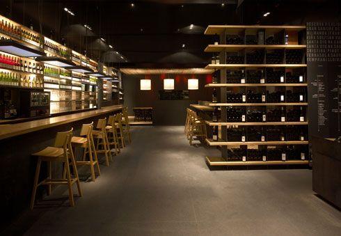 Simple And Elegant Wine Bar And Restaurant Design | Bortárolás ...