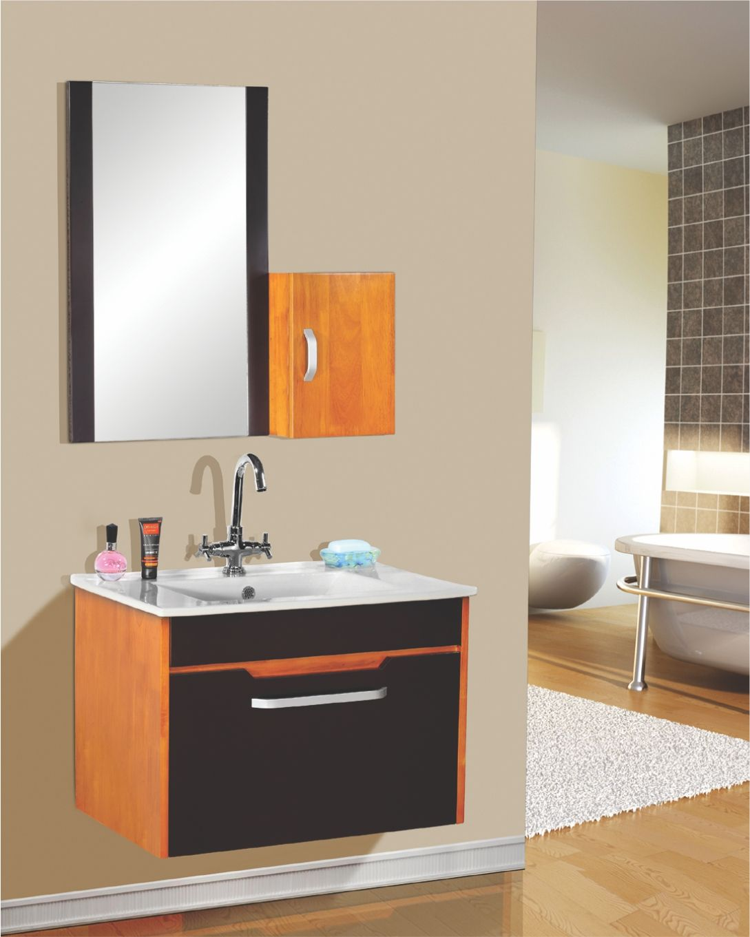 Sns 991 Solid Wood Bathroom Cabinet 700x460mm Bathroom Cabinets Wooden Wood Bathroom Cabinets Bathroom Cabinets Wood Bathroom