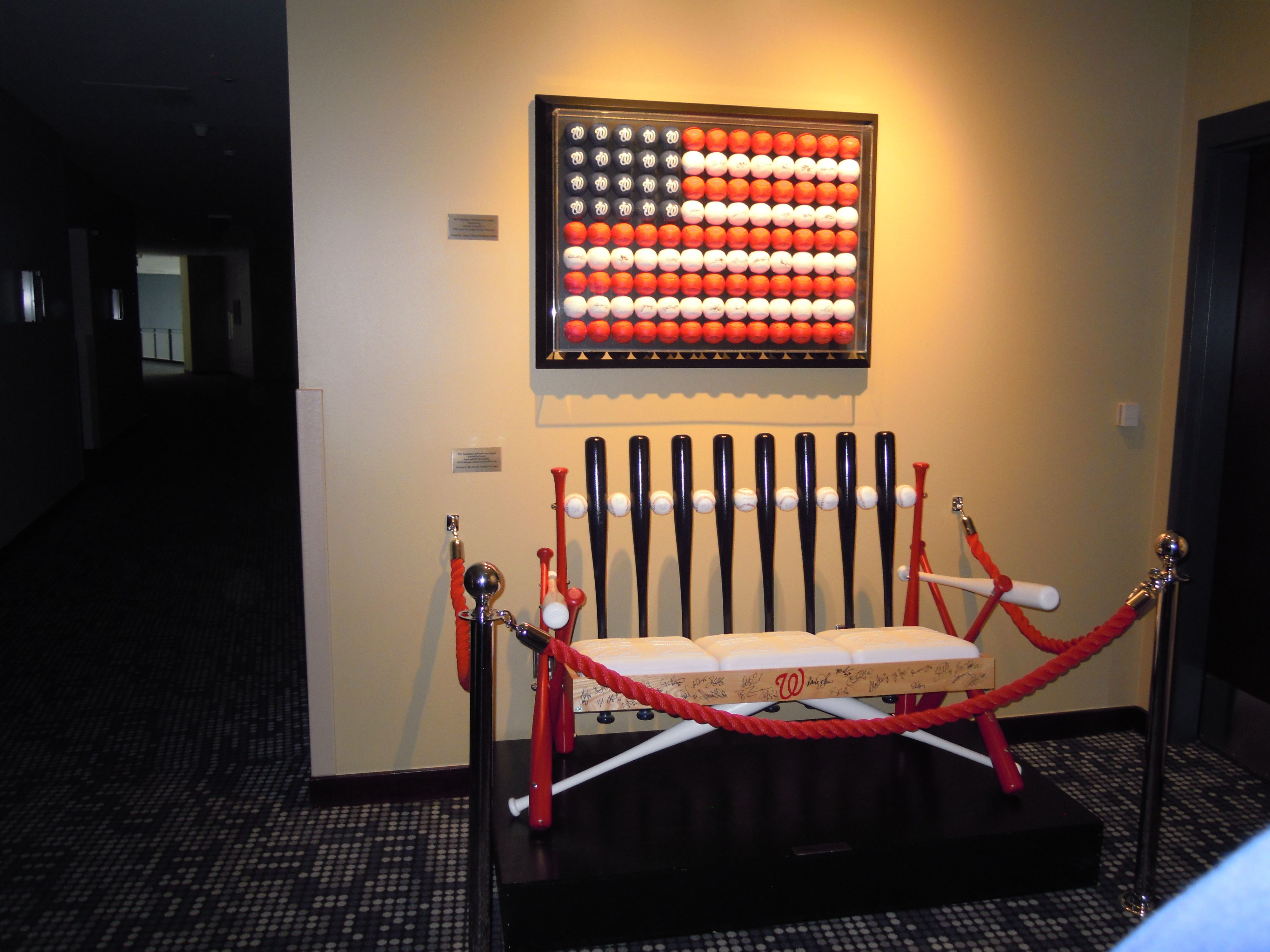 Bats And Balls Bench And Flag With Images Washington