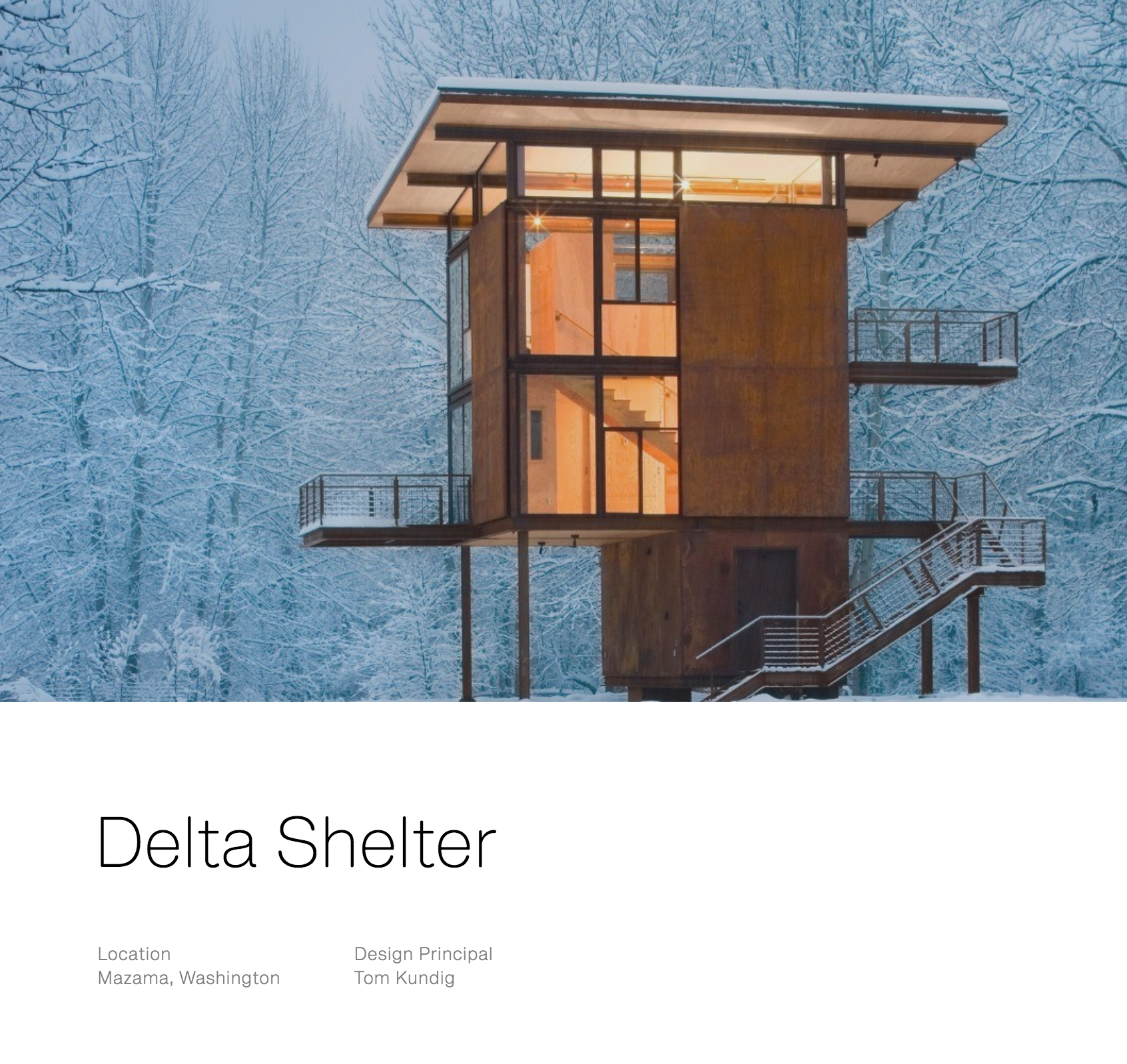 Delta Shelter - Winter View