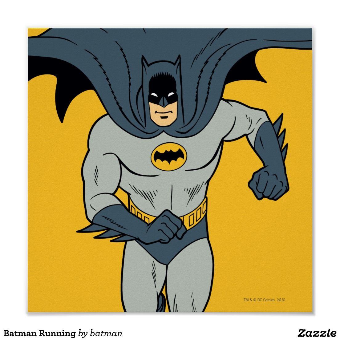 Batman Running Poster Batman comic art