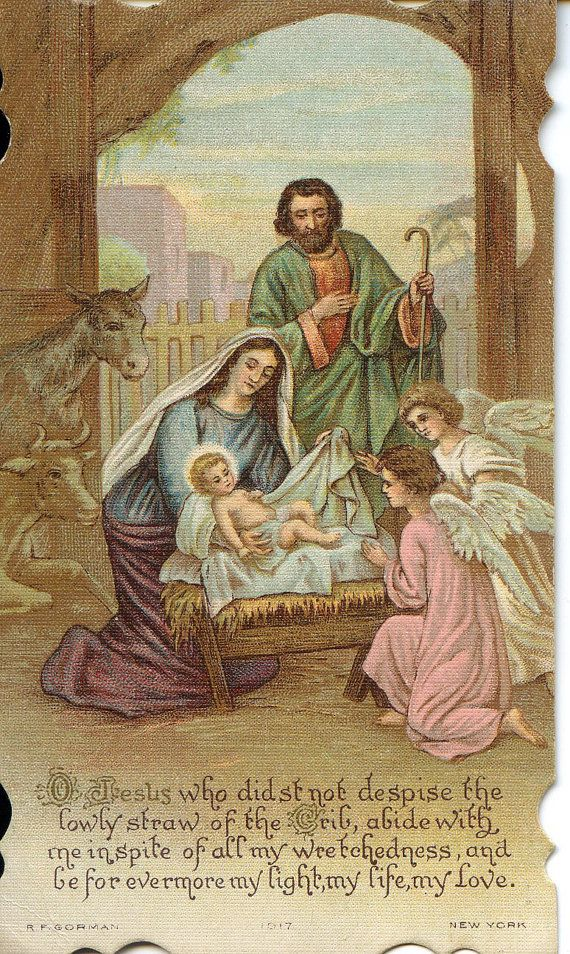 Vintage Religious Card Jesus Mary Joseph by antiquewhisperer ...