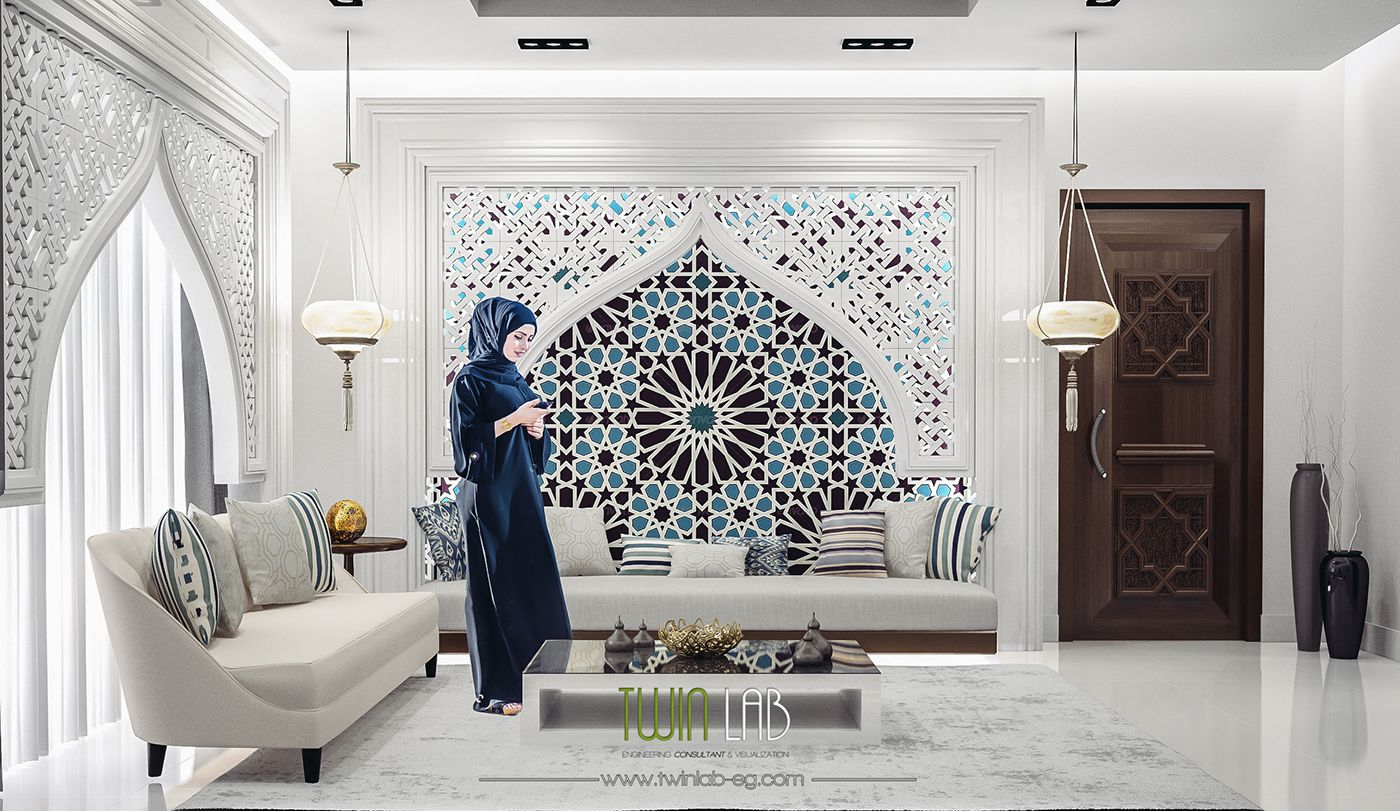Modern Islamic Interior Design On Behance With Images Interior