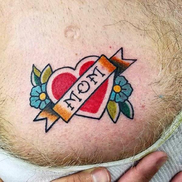 40 Traditional Mom Tattoo Designs For Men Memorial Ideas Mom Tattoo Designs Traditional Heart Tattoos Mom Heart Tattoo