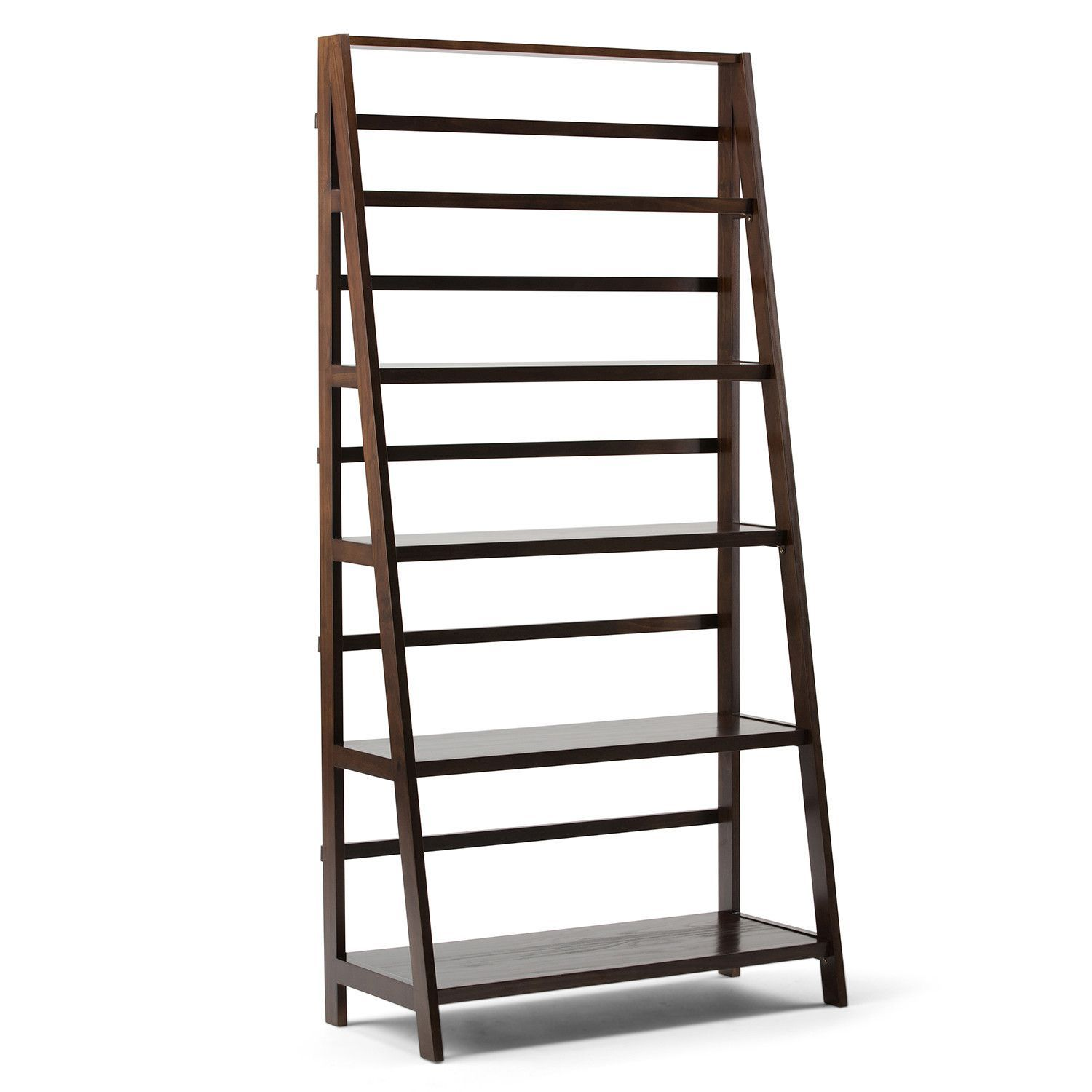 Acadian 72 X 36 Inch Wide Ladder Shelf Bookcase