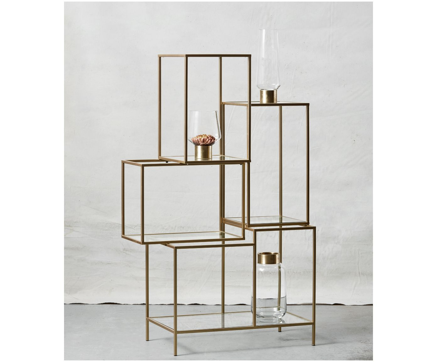 Bunte Wandregale Regal Rack Home Brass Shelving Shelving Racks Und Glass Shelves