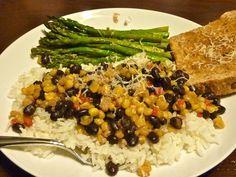 Black Beans Caramelized Corn Healthy Recipes Yats Recipe Vegetarian Entrees