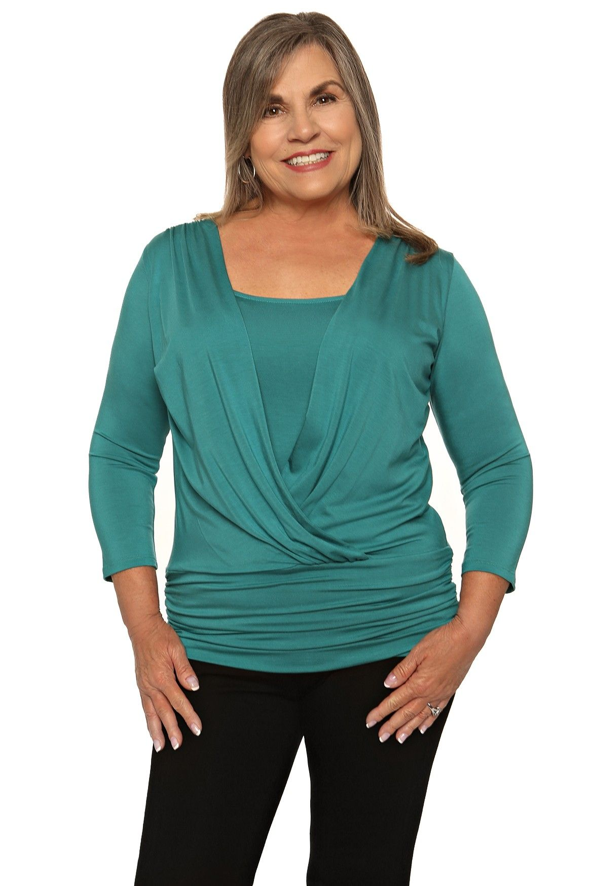 f580c8afb9942a Womens Wrap Tops
