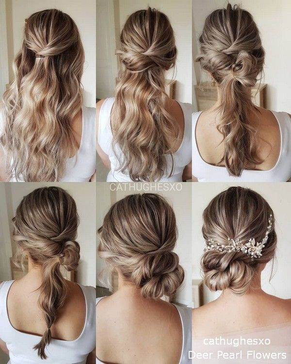 18 Wedding Hairstyles Tutorials For Brides And Bridesmaids Hochzeitsfrisuren Brautjungfern Frisuren Frisur Hochzeit
