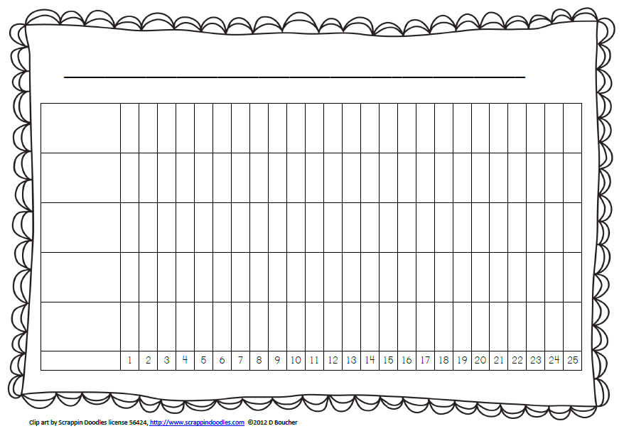 It is a graphic of Nerdy Printable Line Graphs