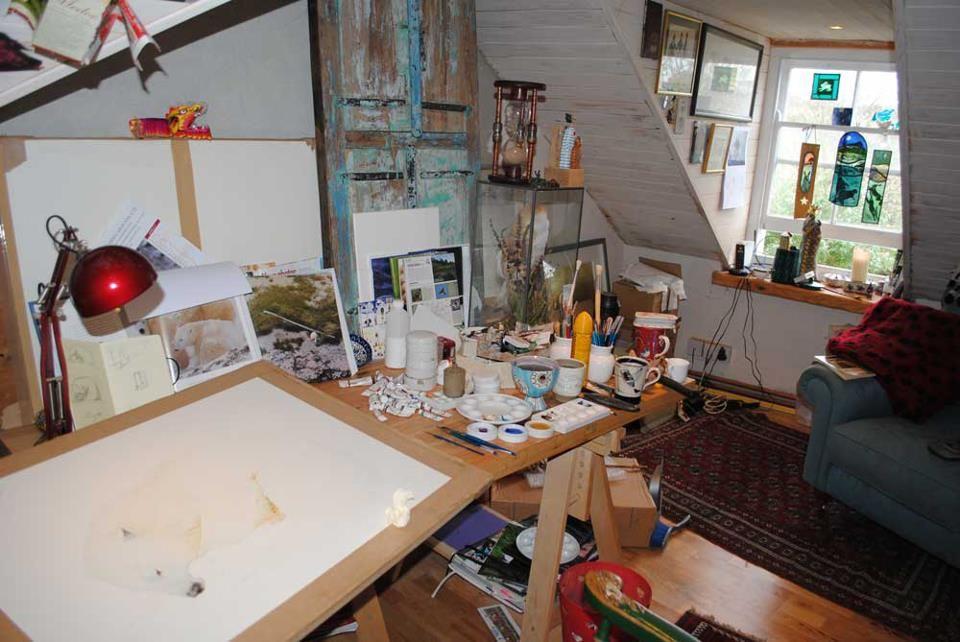 Artist Jackie Morris studio